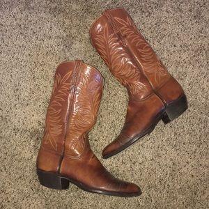 Lucchese | Men's Vintage Leather Cowboy Boots 10D
